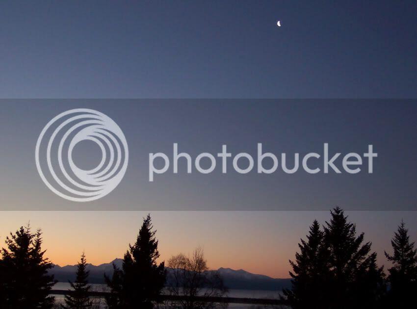 Daybreak over the Kenai Mountains