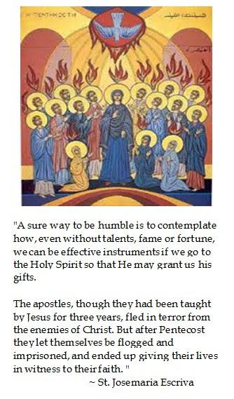 Josemaria Escriva Pentecost