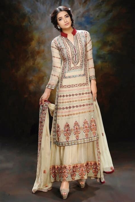 Stylish White Dress Wedding Umbrella Frocks Churidar