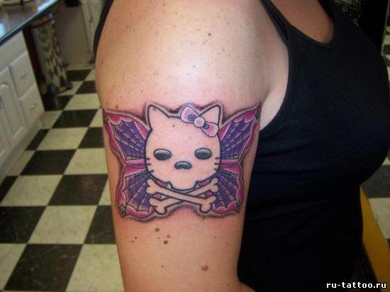 Hello Kitty татуировка. Необычный взгляд. - Татуировки: лучшие эскизы, фото,  статьи и видео
