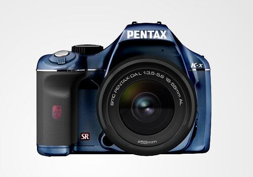 Pentax K-X color selection BlueBlackLimited