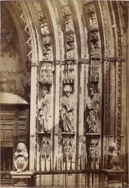 Puerta de los Leones de la Catedral de Toledo en la primavera de 1858. Fotografía de Charles Clifford. © Victoria and Albert Museum, London