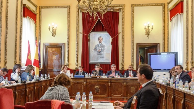 En la imagen un instante del Pleno del Ayuntamiento de Guadalajara celebrado este miércoles en el Consistorio