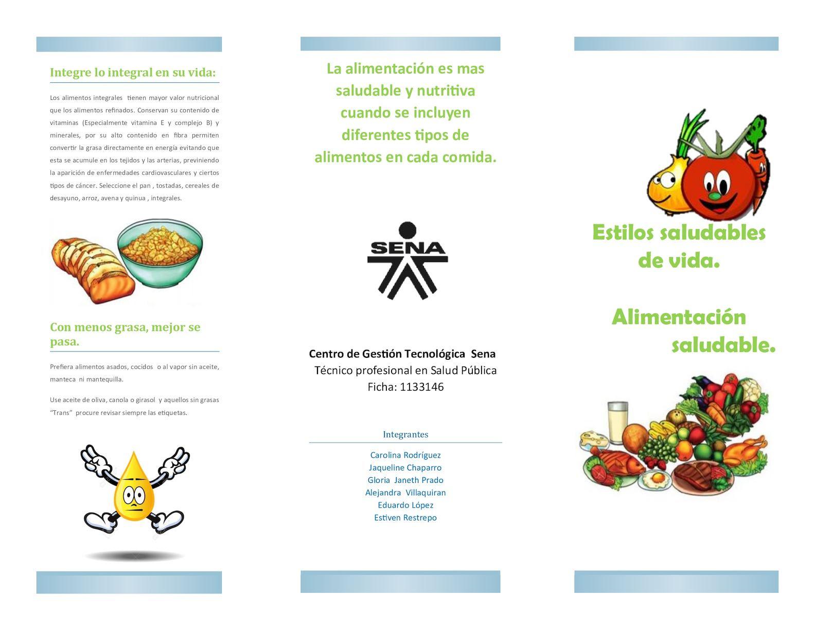 Calaméo Folleto Alimentacion Saludable