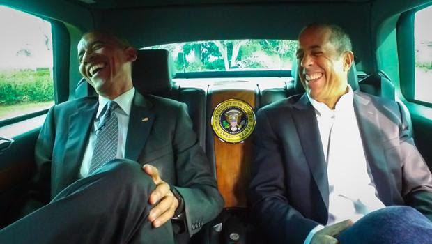 President Barack Obama and Jerry Seinfeld