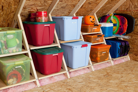 organize attic storage