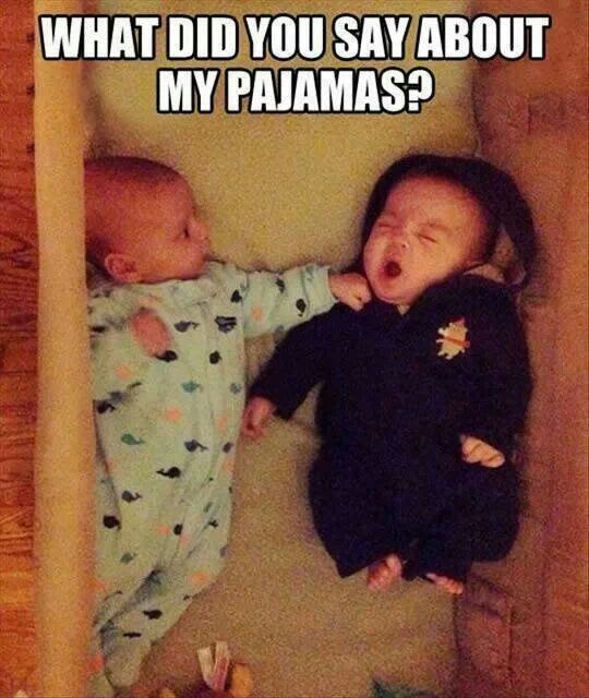 funny baby picture, baby pajamas, offended baby, baby punch