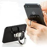サンワダイレクト バンカーリング Bunker Ring3 iPhone5 Xperia Galaxy など各種 スマートフォン 対応 スタンド機能 落下防止 ブラック 200-IPP014BK