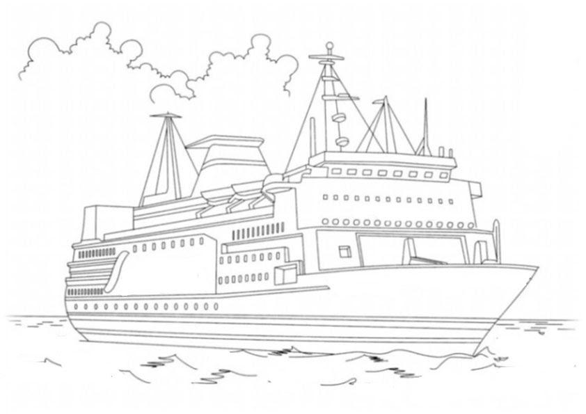 ausmalbild schiff kostenlos