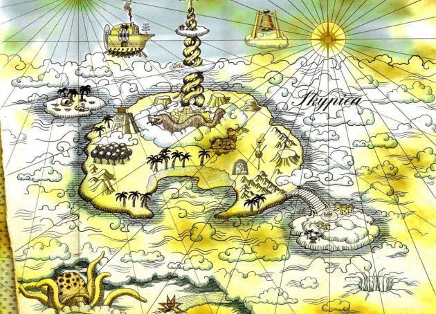 Map of Skypiea   One Piece   Pinterest