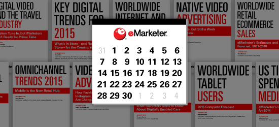 eMarketer Report Schedule