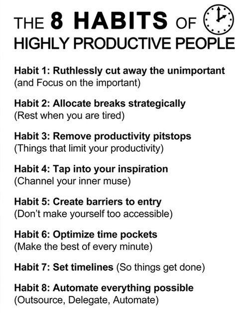focus, time management, delegate