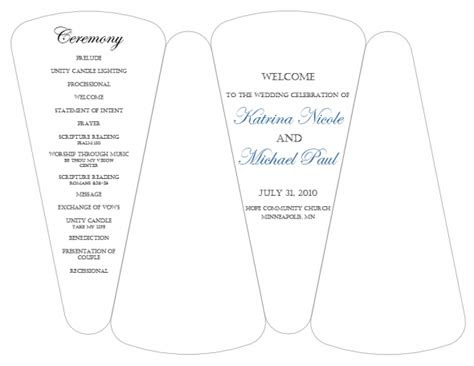 dyi template  program fans  template wedding