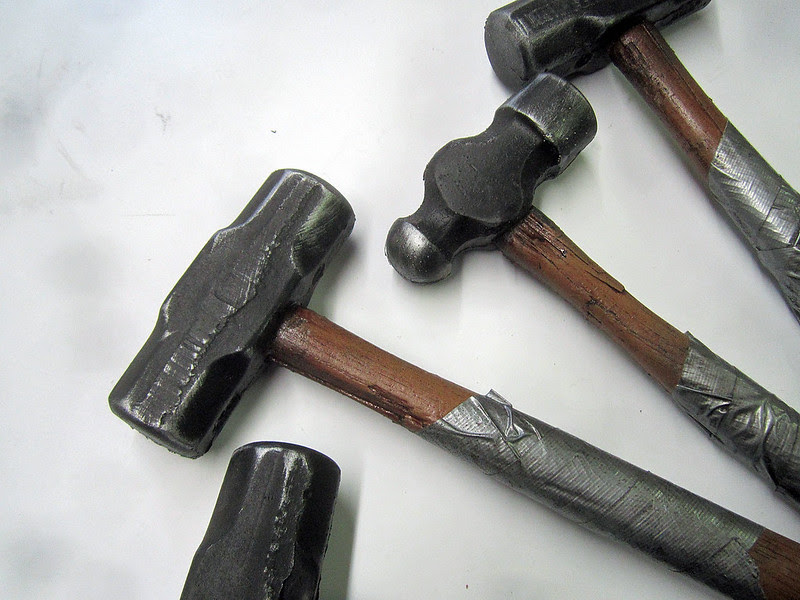 Finished Hammers closeup