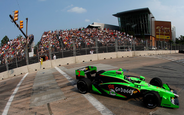 Danica Patrick Danica Patrick drives her #7 Team GoDaddy Andretti Autosport Dallara Honda during the for IZOD IndyCar Series Baltimore Grand Prix on September 4, 2011 on the streets of Baltimore, Maryland.