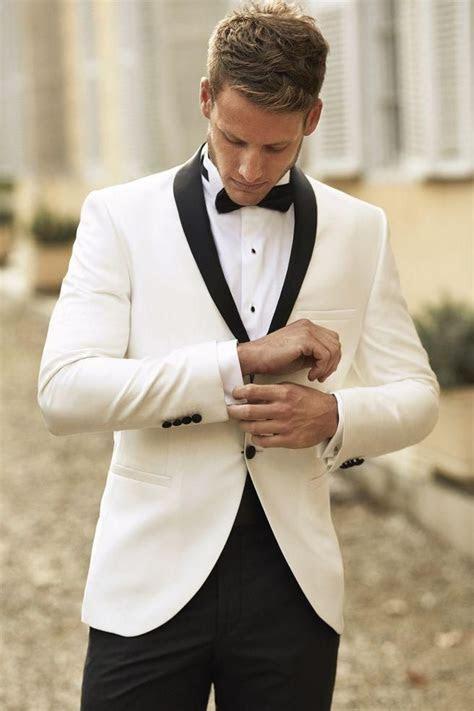 Cheap Custom Made Ivory Men Tuxedos Wedding Suits For Men