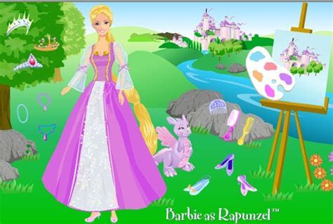Barbie As Rapunzel Dress Up Game   Barbie games   Games Loon