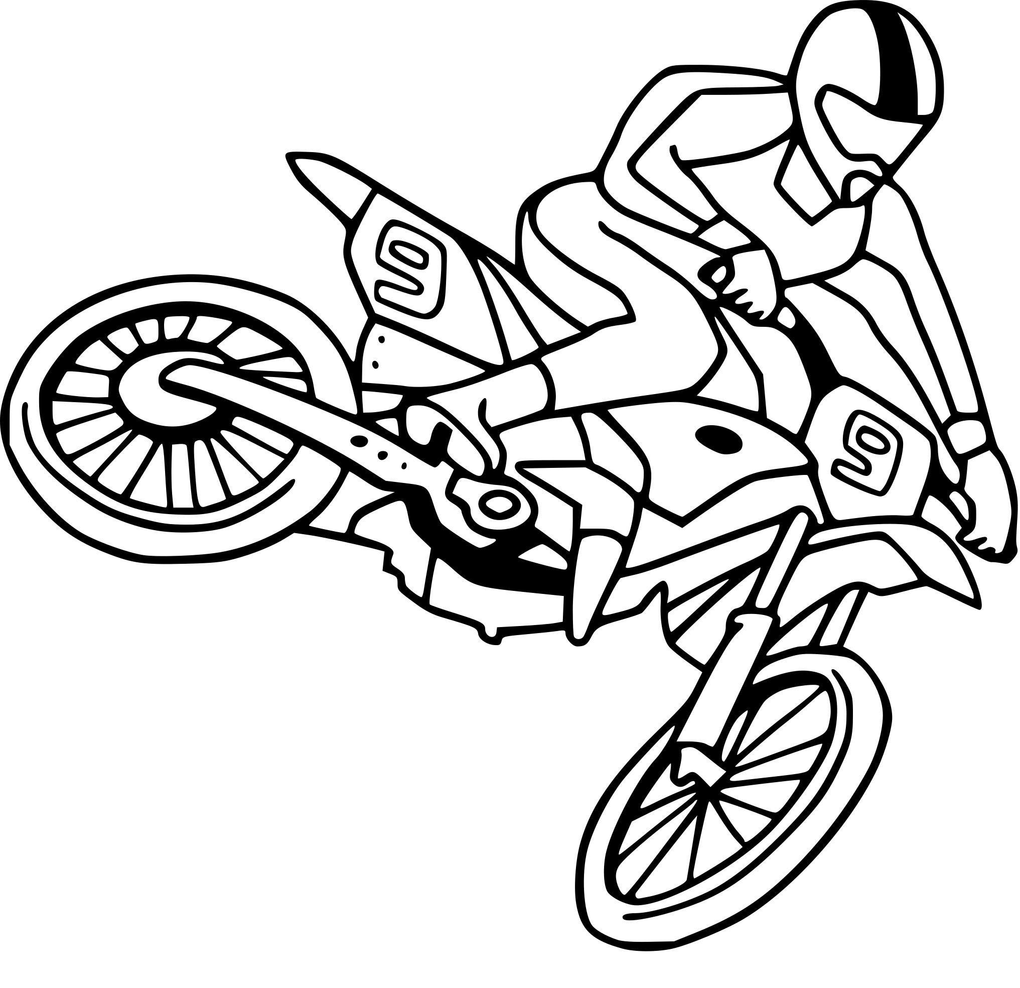 Coloriage Moto Cross dessin