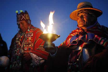 Amautas están en Villazón Bolivia