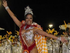Rainha do Carnaval de Manaus desfilou em todas as escolas de samba (Foto: Anderson Silva/G1)