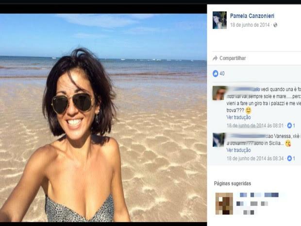 Italiana passava os verões em Morro de São Paulo, diz polícia (Foto: Reprodução / Facebook)
