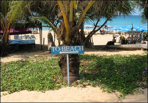 This way to the beach (at Karon Beach, Phuket)