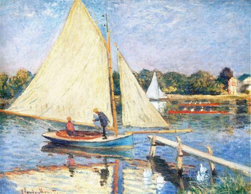 Los navegantes en Argenteuil de Claude Monet -