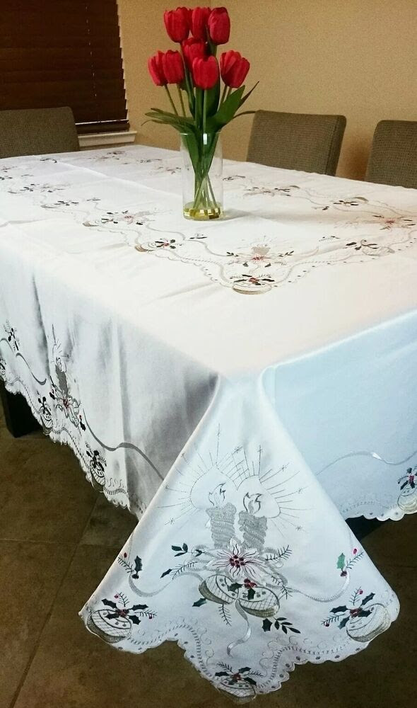 Christmas Tablecloth with Napkins *ALL SIZES Available ...