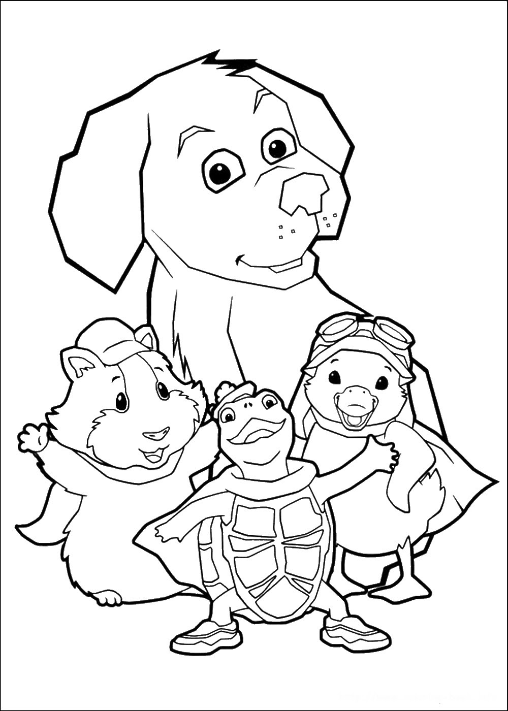 Wonder Pets Coloring Pages Coloring Pages
