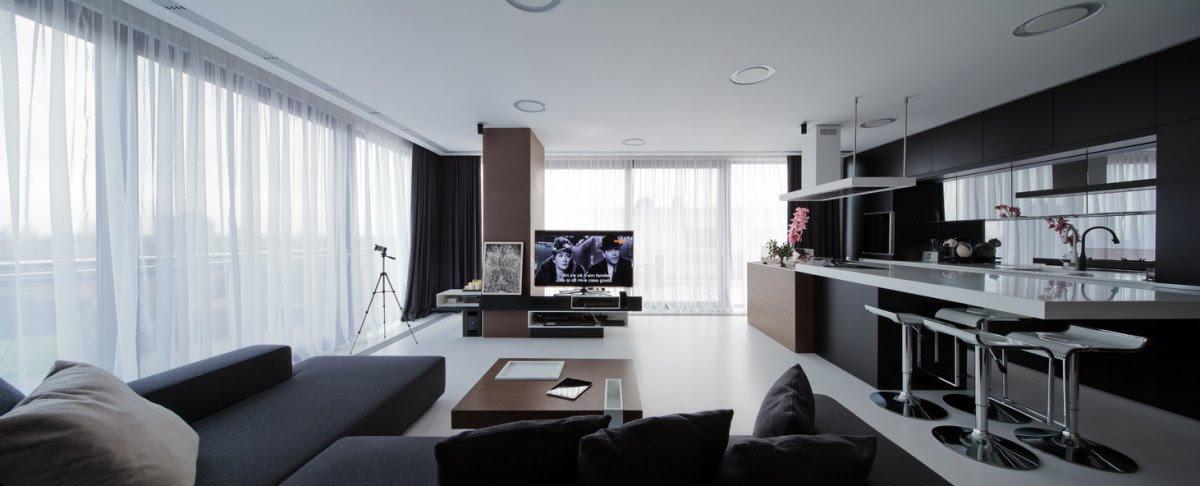 Open  plan living  room  kitchen  Interior Design  Ideas