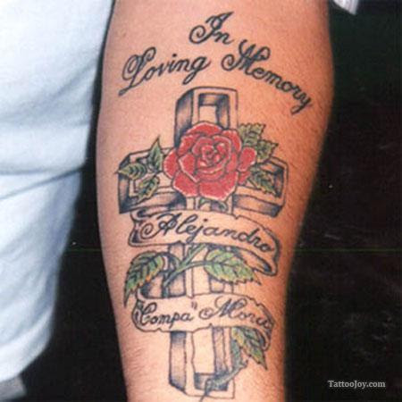 Cool Cross And Rose Tattoo For Man Tattoomagz