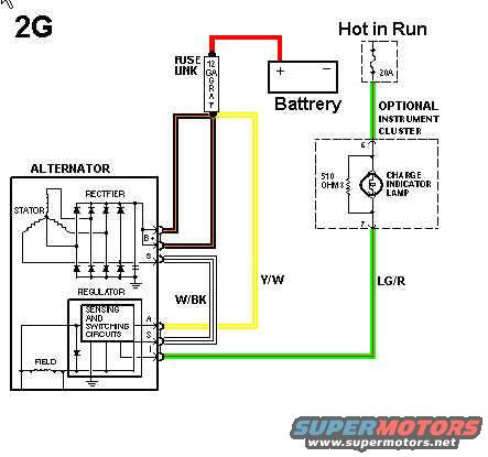 on nippondenso alternator wiring diagram 4 prong