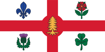 English: Flag of the City of Montreal Français...