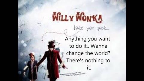 Willy Wonka Pure Imagination Lyrics