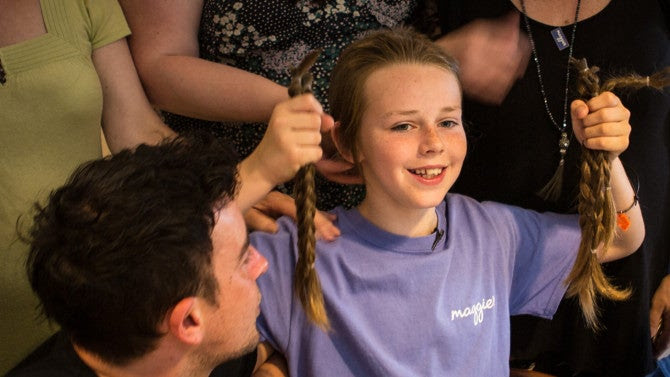 Boy, 11, Grows Hair to Donate to Cancer Charity After Mom ...
