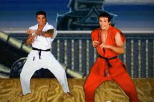 Dupla de axé faz homenagem a 'Street Fighter' em clipe na internet (Foto: Reprodução)