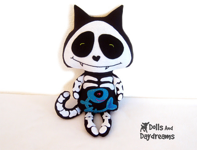 Skeleton cat sewing pattern