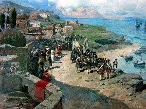 Emperor Peter I the Great in Tarqui June 13, 1722