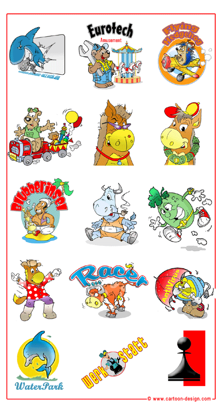 Cartoon Logo Design - Logos with Cartoon Characters