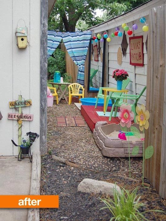 Narrow Side Yard Play Area Turned to Kids