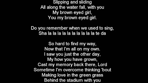 I Love To Look Into Your Big Brown Eyes Lyrics