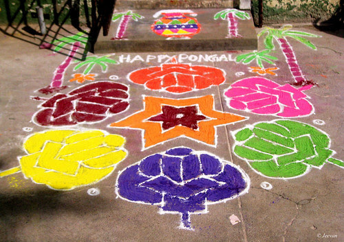 Pongal Kolam by mom