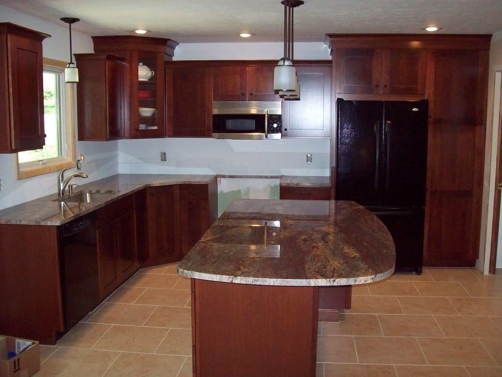 Dark Cherry Kitchen Cabinets - Home Furniture Design