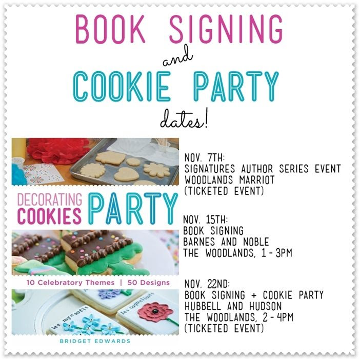 decorating cookies party: book signing dates (houston, tx)