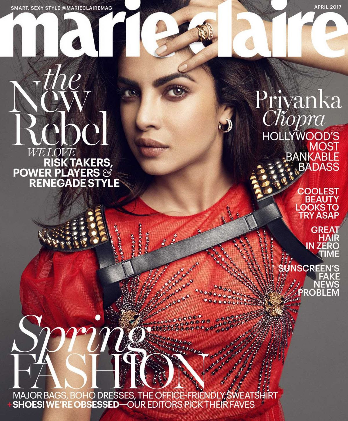PRIYANKA CHOPRA in Marie Claire Magazine, April 2017