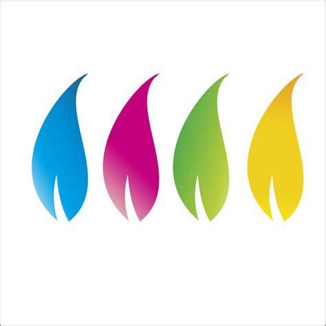 colorful floral logo design  corel draw tutorial corel