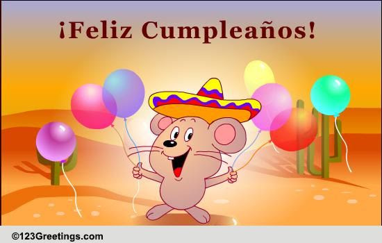 Happy Birthday Wish In Spanish Free Specials Ecards Greeting