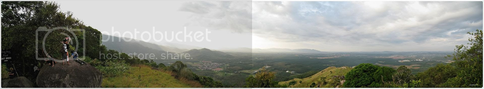 Broga Hill Highest Point Panorama View