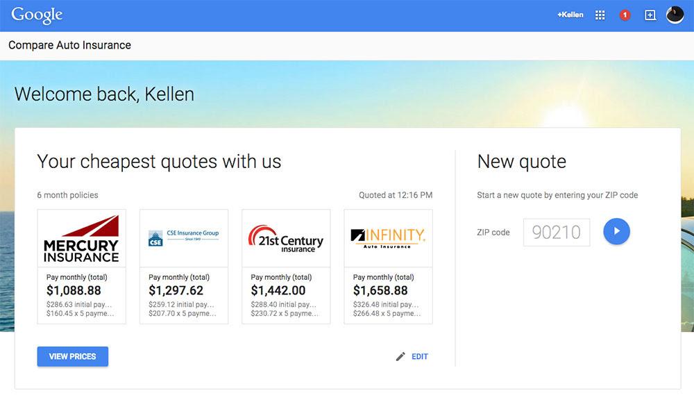 Google Introduces Car Insurance Comparison Tool - Droid Life