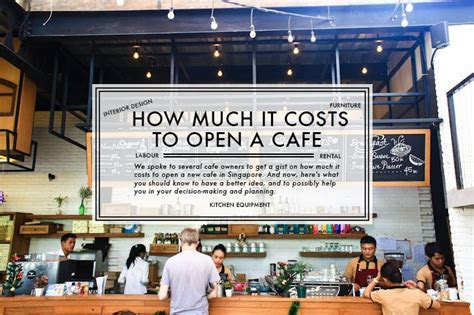How much does it cost to open a new cafe in Singapore